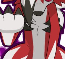 Pokemon - Lycanroc Midnight Form Sticker