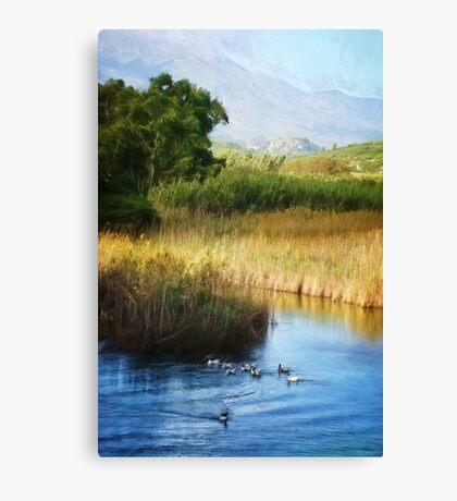 Peaceful Scene in Crete Canvas Print