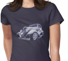 32 Ford Coupe Sketch of a Classic Street Rod Womens Fitted T-Shirt
