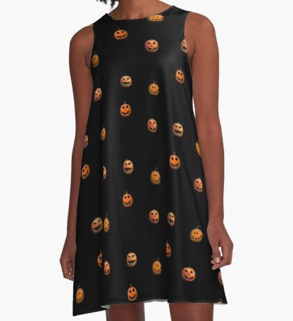 Halloween Pumpkin Jack o lantern A-Line Dress