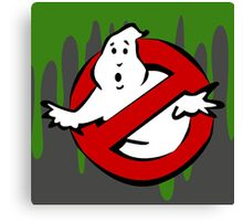 """""""I Ain't Afraid of No Ghost"""" Ghostbusters Stay Puft Mashmallow Man Green Slime Slimer Canvas Print"""