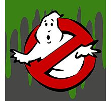 """I Ain't Afraid of No Ghost"" Ghostbusters Stay Puft Mashmallow Man Green Slime Slimer Photographic Print"