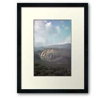 mountains of Crete Framed Print