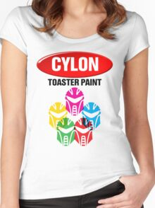 Cylon Toaster Paint Women's Fitted Scoop T-Shirt