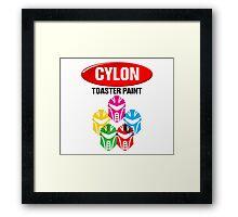Cylon Toaster Paint Framed Print