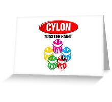 Cylon Toaster Paint Greeting Card