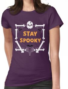 Stay Spooky Womens Fitted T-Shirt