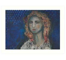 Mosaic Vrouw Art Print