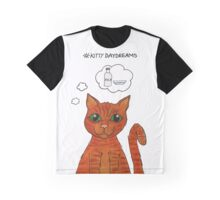 Kitty Daydreams - Ginger Tabby Cat Graphic T-Shirt