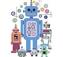 Retro Robots for Sci-fi Nerds and Geeks Photographic Print