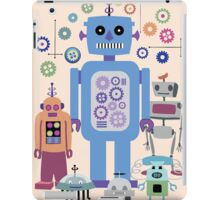 Retro Robots for Sci-fi Nerds and Geeks iPad Case/Skin