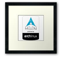 Powered By Arch Linux Framed Print