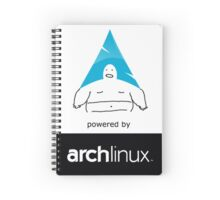 Powered By Arch Linux Spiral Notebook