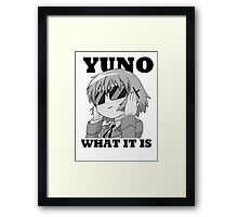 Yuno what it is Framed Print