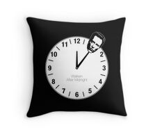 Walken After Midnight Throw Pillow