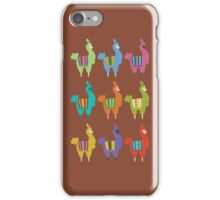 Llama party iPhone Case/Skin