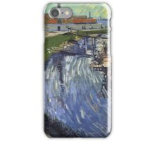 Vincent Van Gogh -  Roubine Du Roi Canal With Washerwomen, 1888 iPhone Case/Skin