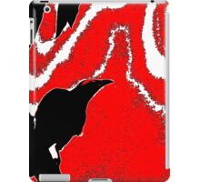 Squatting Bird Blowing Wind  iPad Case/Skin