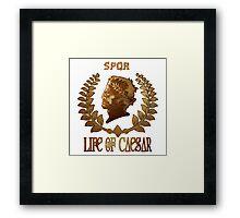 Caesar Insignia Framed Print