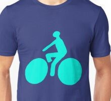 Turquoise bike Unisex T-Shirt