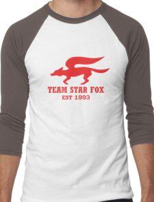 Star Fox Emblem Red Men's Baseball ¾ T-Shirt