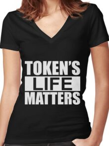 South Park Token's Life Matters Women's Fitted V-Neck T-Shirt