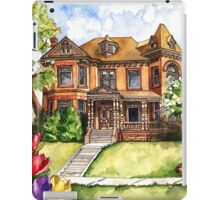 Victorian Mansion in the Spring iPad Case/Skin