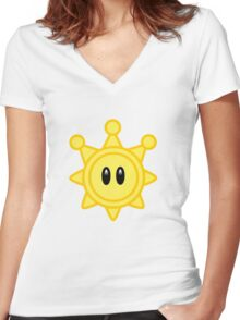 Shine Get! Women's Fitted V-Neck T-Shirt