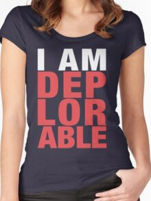 I Am Deplorable Women's Fitted Scoop T-Shirt