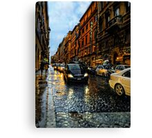 rainy night in Rome Canvas Print
