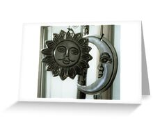 THE SUN AND THE MAN IN THE MOON  Greeting Card