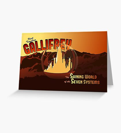 Visit Timeless Gallifrey (New) Greeting Card