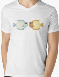 Two Fish Mens V-Neck T-Shirt