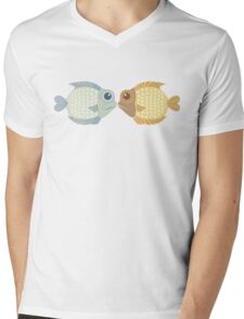 Two Fish Mens V-Neck T-Shirt