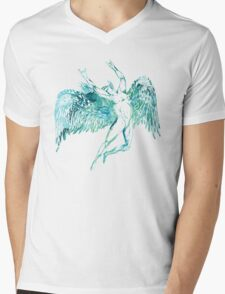 ICARUS THROWS THE HORNS - blue watercolor NEW DESIGN Mens V-Neck T-Shirt
