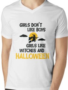 Girls like Halloween Mens V-Neck T-Shirt
