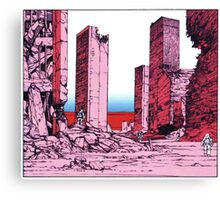 Katsuhiro Otomo Destruction Canvas Print