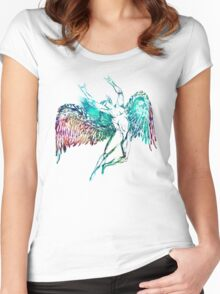 ICARUS THROWS THE HORNS - WATERCOLOR Women's Fitted Scoop T-Shirt