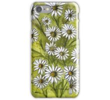 Happy Daisies Ink and Watercolor Painting iPhone Case/Skin