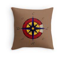 Colorado Compass Throw Pillow