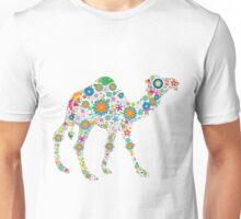 Cute Colorful Retro Floral Camel Unisex T-Shirt