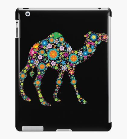 Cute Colorful Retro Floral Camel iPad Case/Skin