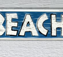 To Beach Sticker