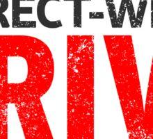 Correct-Wheel Drive Sticker