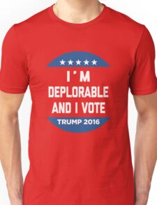 Deplorable And Vote T-Shirt