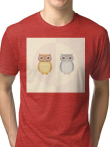 Two Owls Tri-blend T-Shirt