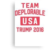 Team Deplorable Canvas Print