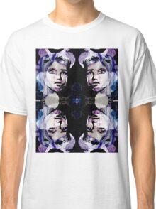 Black and Purple Portrait Classic T-Shirt