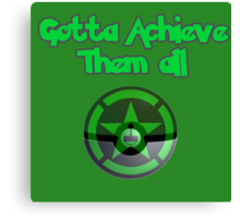Achievement Hunter - Gotta achieve them all - Pokemon Canvas Print