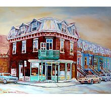 CLASSIC MONTREAL ARCHITECTURE PLATEAU MONT ROYAL Photographic Print